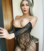 Preview Nelly Ochoa - TASTIEST TRANNY ever! You will love this blonde hottie in lace bodysuit